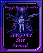 image of awesome site award from purple paradise