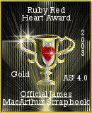 Ruby Red Heart Gold Award